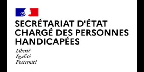 secrétariat d'état chargé des personnes handicapées logo